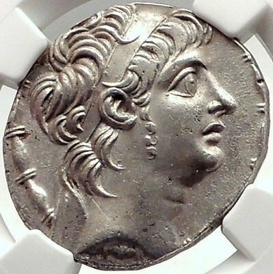 ANTIOCHOS X Eusebes Seleukid Ancient Silver Greek Tetradrachm Coin NGC  i70334