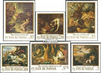 Romania 2876-2881 unmounted mint / never hinged 1970 Hunting-Paintings