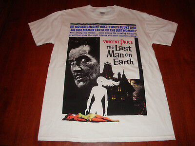 THE LAST MAN ON EARTH T-SHIRT (S) vincent price CLASSIC HORROR