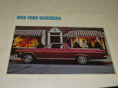 Vintage 1966 Ford Ranchero Automobile Brochure