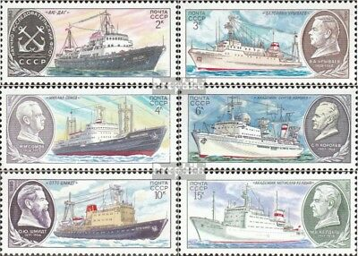 Soviet-Union 5012-5017 fine used / cancelled 1980 Research vessels