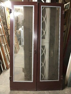 "Screen Doors French Doors 1920""s 79x24 Ea 48"" Open"