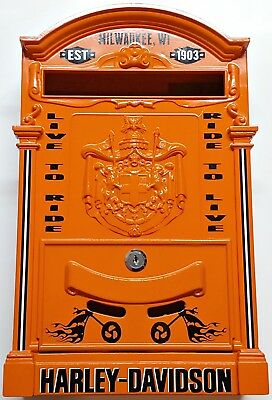 Made Italy Vintage Style Custom Designed Harley Davidson Steel/metal Mailbox