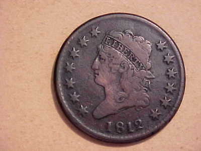 1812 Classic Head Large Cent original Fine