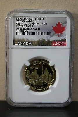 2017 Canada Our Home&Native Land First Releases Silver Dollar Proof Set NGC PF69