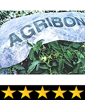 """Agribon AG-19 (83"""" x 50')/Frost Blanket/Floating Row Crop Cover/Garden Fabric P"""