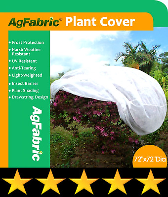 Agfabric Plant Cover Warm Worth Frost Blanket - 0.95 oz Fabric of 72''Hx72''Dia