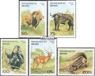 Animal Kingdom Benin 668-673 Mint Never Hinged Mnh 1995 Cats Stamps