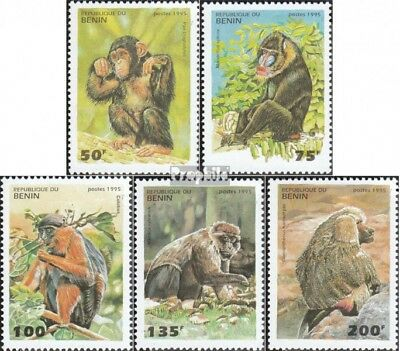 Benin 668-673 Mint Never Hinged Mnh 1995 Cats Stamps Africa