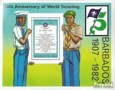barbados block15 unmounted mint / never hinged 1982 75 years Scouts