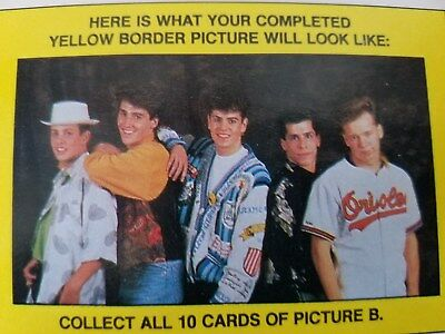 New Kids On The Block 1989 Topps Sticker & Puzzle ~B~ Complete 11 Card Set