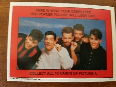 New Kids On The Block 1989 Topps Sticker & Puzzle ~A~ Complete 11 Card Set