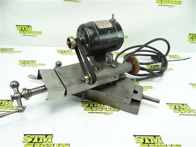 Dumore Tom Thumb Tool Post Grinder Mounted On A Rivett Compound Cross Slide