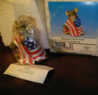 Fitz And Floyd Charming Tails Wrapped With Pride Flag Figurine 89/139