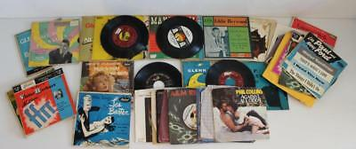 Lot of 44x Assorted Vintage 45 Rpm Records RCA Victor ABBA Genesis Phil Collins