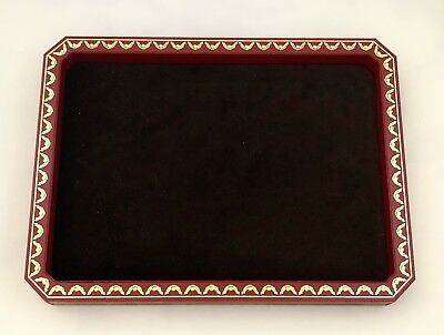 Cartier Display for Eyewear or jewelry, Red & Gold Leather 8-Sided