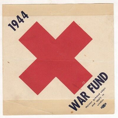 1941 USA - RED CROSS War Fund - window label - uncommon
