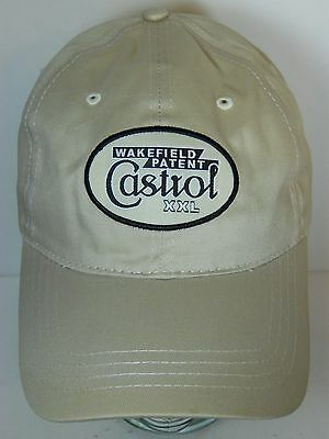 CASTROL MOTOR OIL XXL Wakefield Patent Logo ADVERTISING Adjustable Hat Cap
