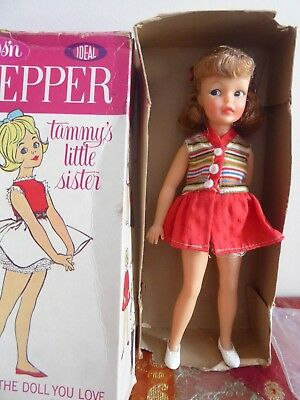 Vintage 1963 Ideal Tammy's Little Sister Pepper With Original Box Great Cond
