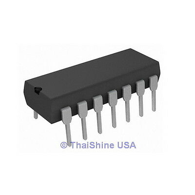 4 x CD4093 4093 IC CMOS NAND SCHMITT TRIGGER - USA Seller - Free Shipping