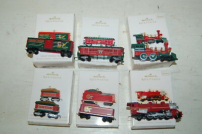 Lot Of 6 Hallmark Lionel Holliday Series Ornaments