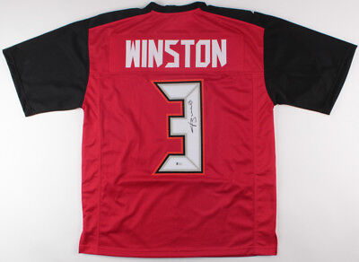 08d59a0255a Jameis Winston Signed Tampa Bay Buccaneers Jersey (Beckett COA) NFL R.O.Y  2015