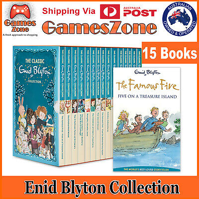 THE CLASSIC ENID BLYTON COLLECTION 15 BOOKS WITH CASE Free Express Post