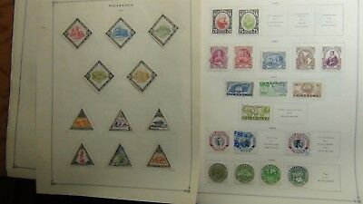 Nicaragua stamp collection on Scott Int'l pages '35 -'85 w/ 1,200 or so stamps
