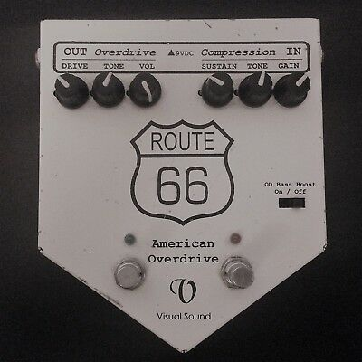 Visual Sound Route 66 Overdrive and Compressor Guitar Pedal good condition!