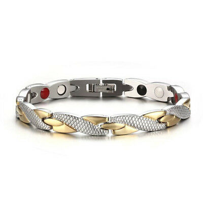 Women Twisted Health Bio Energy Bracelet Magnetic Therapy Chain Charm Wristband