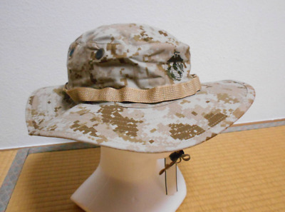 USMC Desert Large Boonie Hat EGA, Authentic MARPAT USA-made SEKRI
