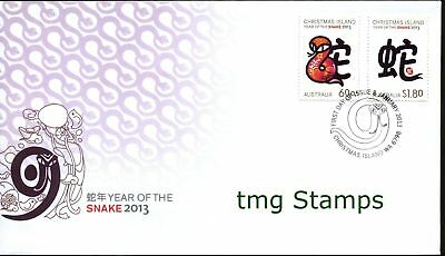 Christmas Island 2013 Year of the Snake FDC