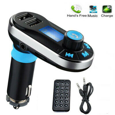 Wireless Bluetooth FM Transmitter Dual USB Car Radio Kit Charger AUX MP3 Player