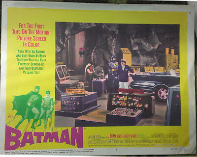 "Batman original 1966 Vintage Movie Poster lobby card ""batcave"""