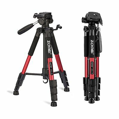 Professional Camera Tripod ZOMEI Q111 Aluminum Alloy Adjustable Tripod Red