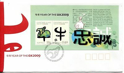 Christmas Island 2009 Year of the OX MS FDC