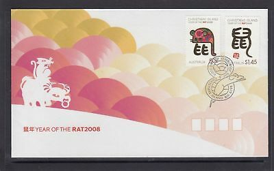 Christmas Island 2008 Year of the Rat FDC
