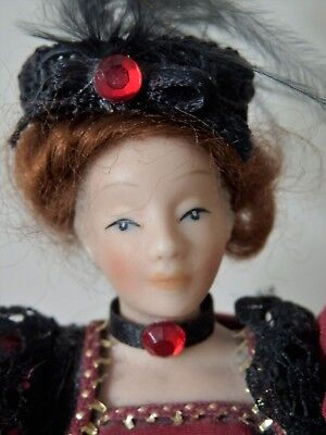 Vintage Victorian Style 'Lady Of The Manor' Dolls House Doll Elaborate Dress