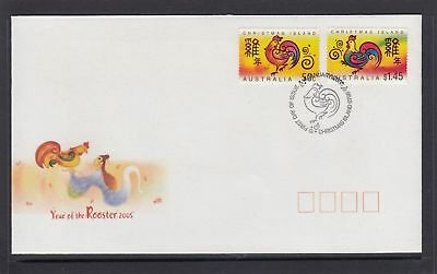 Christmas Island 2005 Year of the Rooster FDC