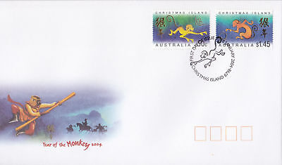 Christmas Island 2005 Year of the Monkey FDC