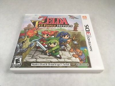 The Legend of Zelda: Tri Force Heroes- In *Mint* cond! Tested! (3DS, 2015)