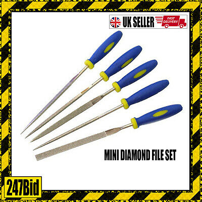 5 Pc  Diamond File Hobby Craft Glass Wood Ceramic Tile Set