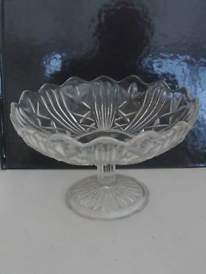 Vintage Pressed Glass Cake/dish/stand