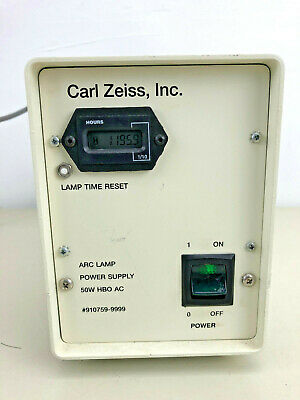 Carl Zeiss Microscope 50W HBO Power Supply 910759 with bulb life indicator