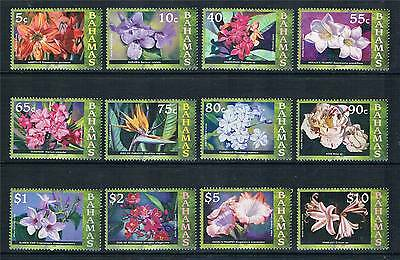 Bahamas 2008 Flowers S/ways wmk 12v set SG 1494/505 MNH