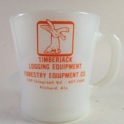 vintage timberjack advertising mug Anchor Hocking Fire-King