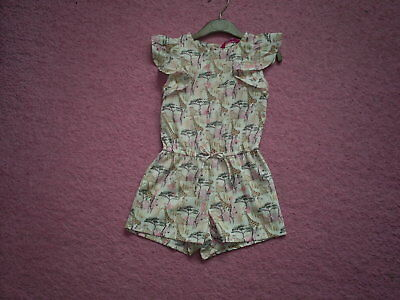 "Girls ""Primark"" Multi Giraffe/African Animal Print Playsuit for Age 2-3 years"