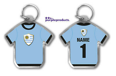 Personalised URUGUAY 2018 World Cup Football Team Supporters Keyring