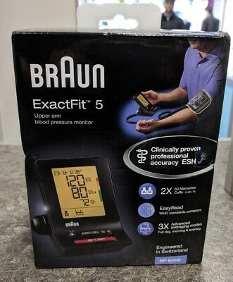Braun Bp6200 Exactfit 5 Upper Arm Blood Pressure Monitor Brand New Sealed Boxed