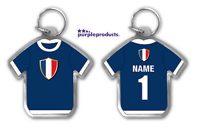 Personalised FRANCE 2018 World Cup Football Team Supporters Keyring